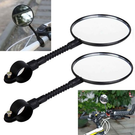 2Pack Rearview Bicycle Mirrors, Flexible Bike Mirrors Support 360°Rotation, perfect for Mountain Bike, Off-Road Bike and Fixed Gear Bike with The Handlebar 2 cm - 2.2 cm