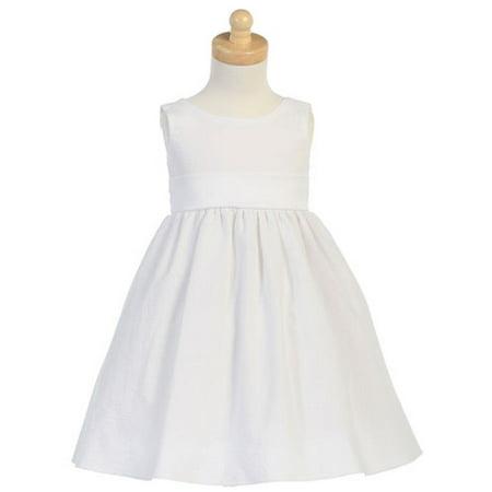 Baby Toddler Girls White Seersucker Stripe Easter Dress -