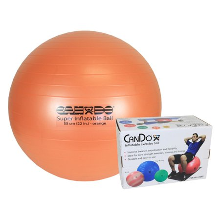 CanDo Sup-R duty ball, orange, 55 cm (22