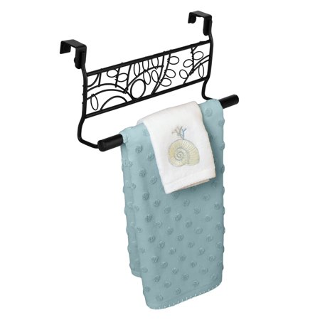 Evelots Over the Cabinet Decorative Black Metal Twigs Towel Rack 54 Black Towel Ring
