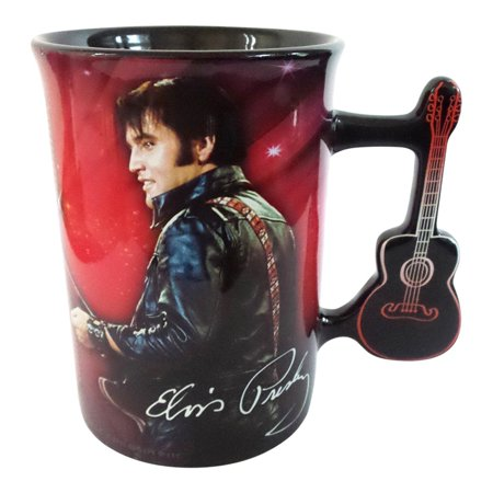 Elvis Presley Mug with Guitar Handle by Midsouth - Elvis Fan Mug