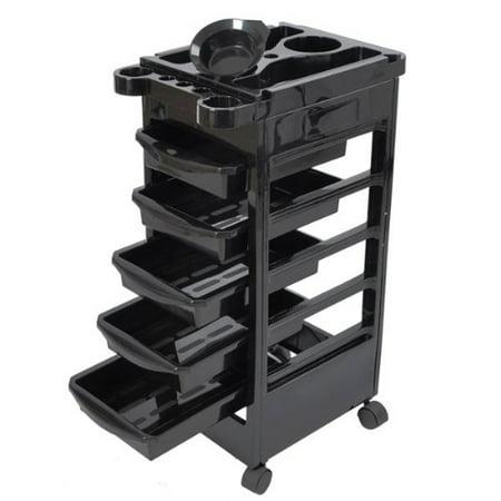 Work Trolley - High Quality Hair Salon Rolling Trolley Storage Cart w/5-Drawer WOrkstations