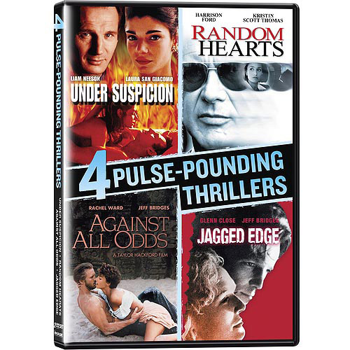4 Pulse-Pounding Thrillers: Under Suspicion   Random Hearts   Against All Odds   Jagged Edge (Widescreen) by IMAGE ENTERTAINMENT INC