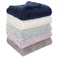 Mainstays Extra Plush Sherpa Blanket, Multiple Sizes and Colors