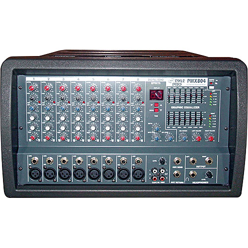 Pyle 8-Channel Professional Powered PA Mixer/Amplifier