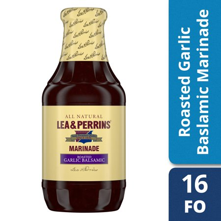 (3 Pack) Lea & Perrins Roasted Garlic & Balsamic Vinegar Marinade, 16 fl oz Bottle