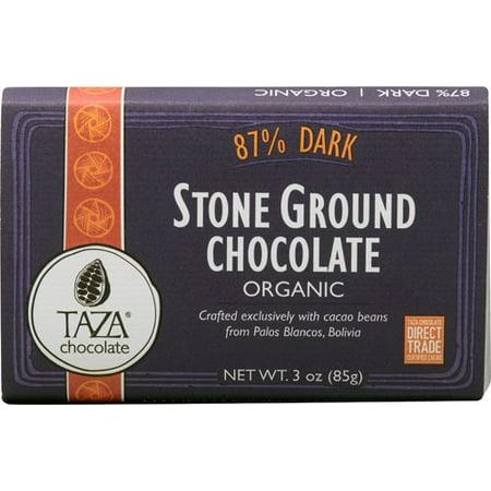 - Taza Chocolate Organic Stone Ground Chocolate 87% Dark 3 oz