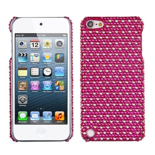 Insten Dots(Hot Pink/white) Diamante Phone Back Case for APPLE: iPod touch (5th 6th Gen 5 6)