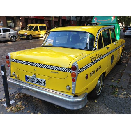 Canvas Print Berlin Auto Yellow Cab Old Nyc Taxi Taxi Stretched Canvas 10 x  14