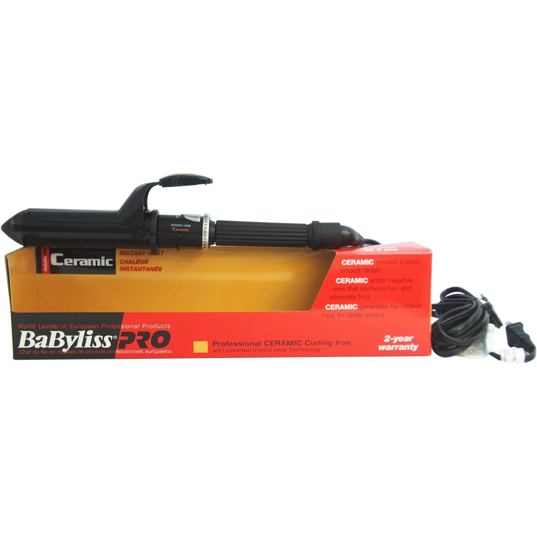 Babyliss Pro professional ceramic curling iron, black 1.25 inch