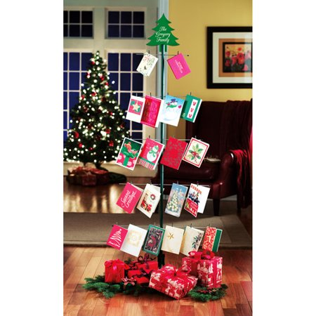 Personalized Metal Christmas Tree Card Holder Walmartcom