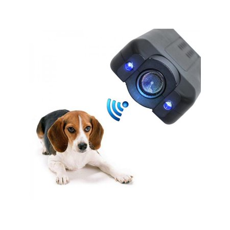 MarinaVida Ultrasonic Anti Dog Barking Device, Pet Trainer LED Light Gentle-Chaser Petgentle