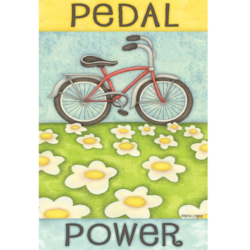 Toland Pedal Power House Flag