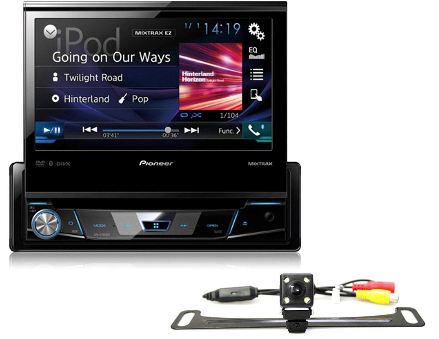 "PIONEER AVH-X7800BT 7"" FLIP OUT SCREEN CAR DVD BLUETOOTH STEREO FREE ABSOLUTE CAM-900 REARVIEW CAMERA by Pioneer"