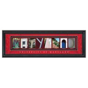 Framed Letter Wall Art - University of Maryland - 24W x 8H in.