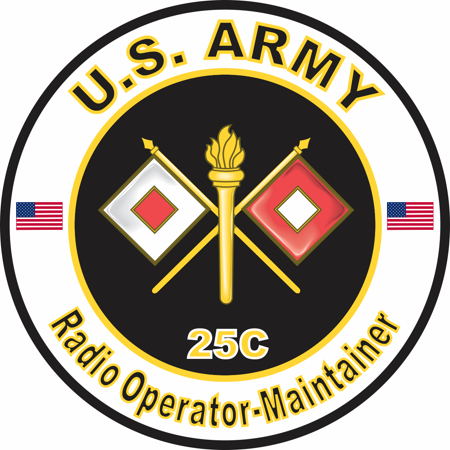 3.8 Inch U.S. Army MOS 25C Radio Operator-Maintainer