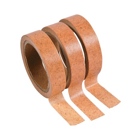 Fun Express - Cork Print Washi Tape Rolls (3pc) for Wedding - Craft Supplies - Scrapbooking Embellishments - Stickers - Wedding - 3 Pieces - Crafting Supplies