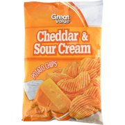 Great Value Cheddar & Sour Cream Flavored Potato Chips, 8 oz