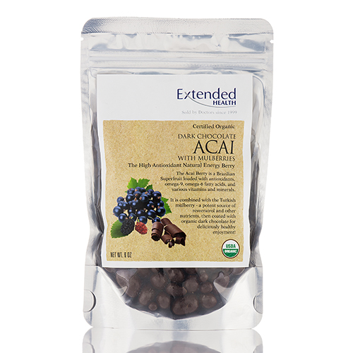 Dark Chocolate Acai with Mulberries - 6 oz by Extended Health