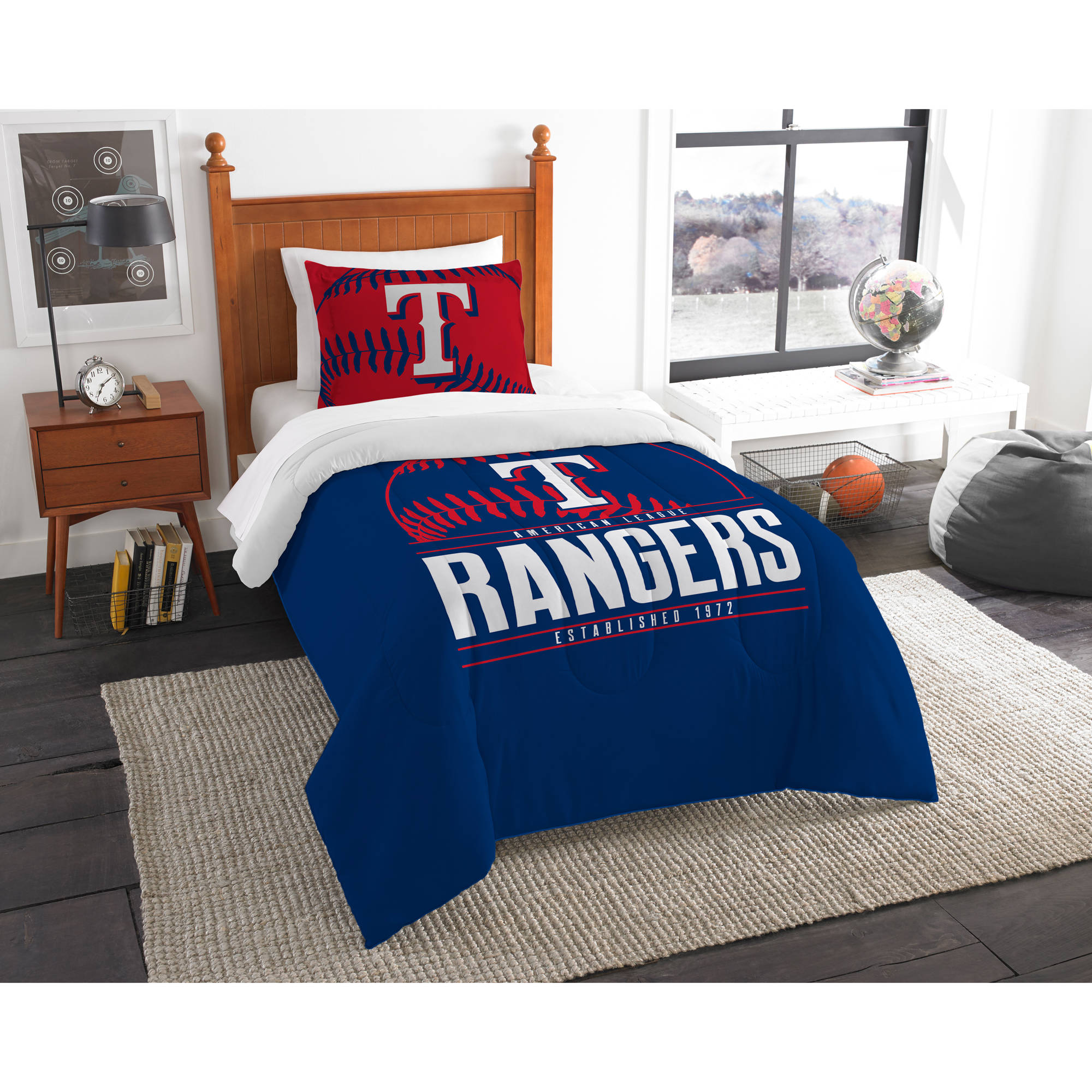 "MLB Texas Rangers ""Grand Slam"" Bedding Comforter Set"