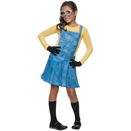 Minions Movies Female Minion Child Halloween Costume, Large (10-12) - Minion Halloween Costume For Kids