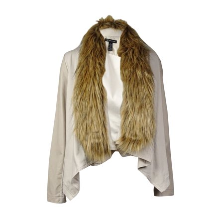INC International Concepts Women's Faux Fur Mix-Media (Inc International Concepts Faux Leather Trim Military Jacket)