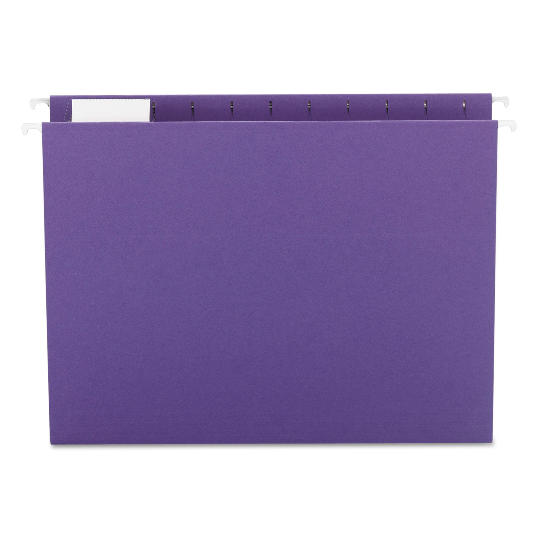 Smead Hanging File Folder with Tab, 1/5-Cut Adjustable Tab, Letter Size, Purple, 25 per Box (64072)