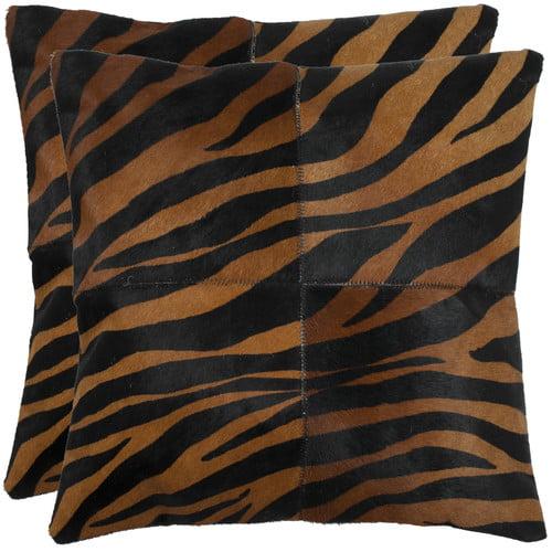 Safavieh Raquel Leather Throw Pillow (Set of 2)