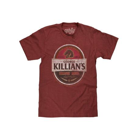 Tee Luv George Killian's Irish Red Premium Beer Logo T-Shirt - Cheap Irish Beer