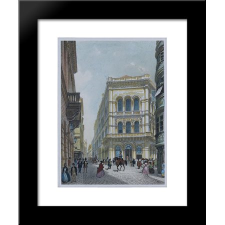 The Banking And Stock Exchange Building In The Lord  Vienna 20X24 Framed Art Print By Rudolf Von Alt