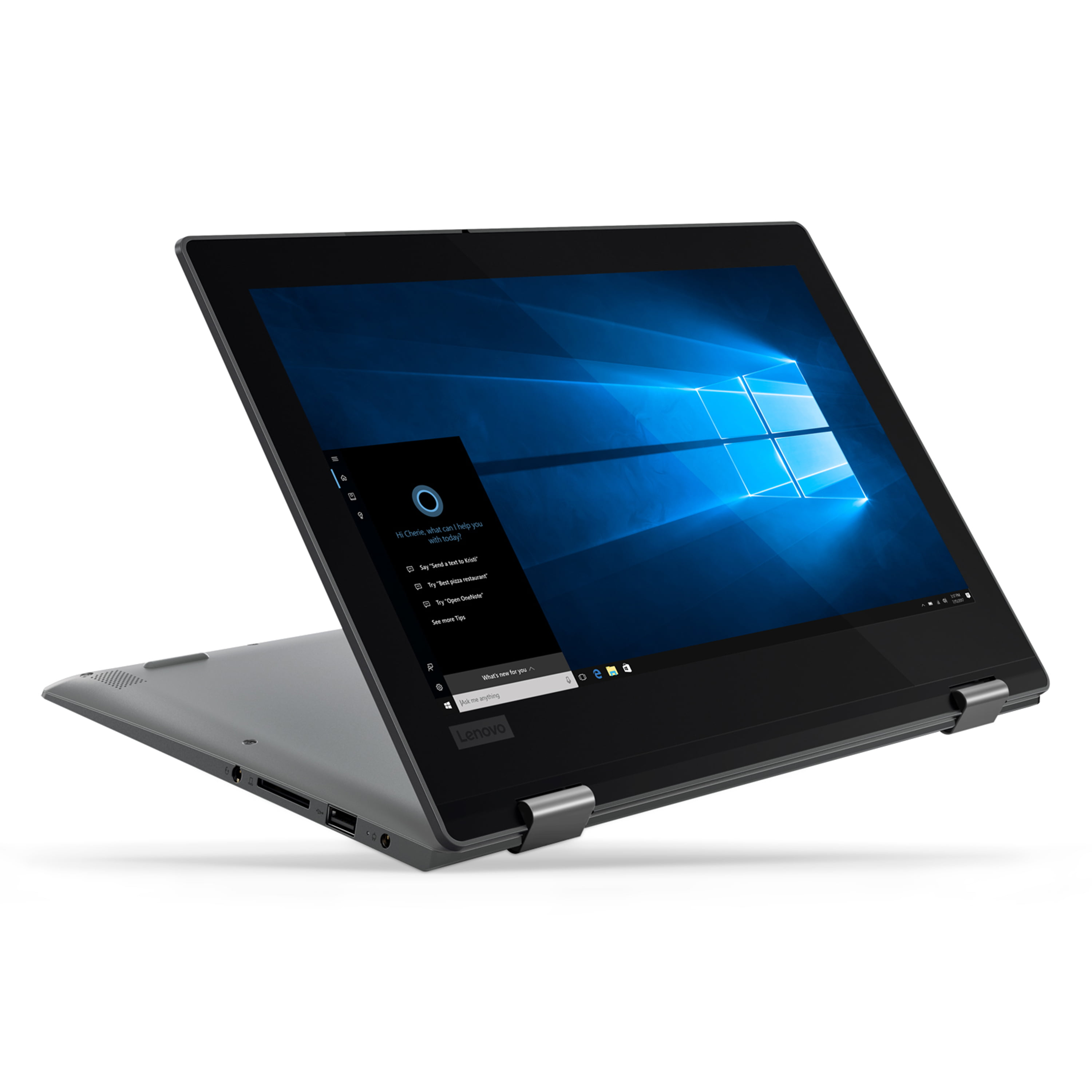 "Lenovo Flex 11 11.6"" 2 in 1 Laptop, Windows 10, Intel Celeron N4000 Dual-Core Processor, 4GB RAM, 64GB eMMC Solid State Drive, Office 365 1 Year Subscription - 81A70005US"