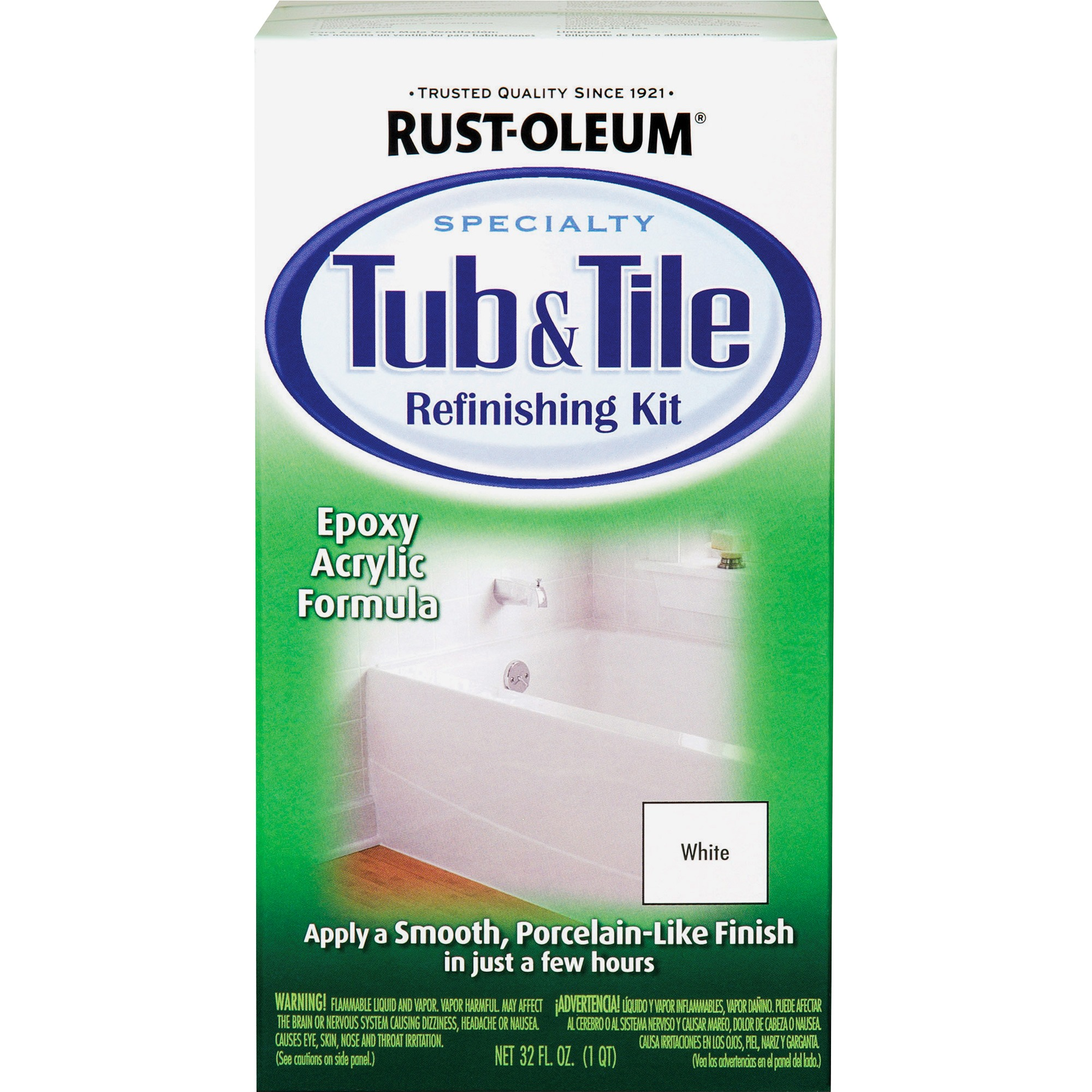 Rust-Oleum, RST7860519, Tub & Tile Refreshing Kit, 1 Kit - Walmart.com