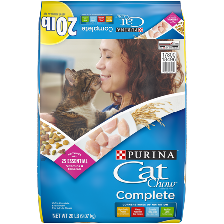 Purina Cat Chow Complete Dry Cat Food, 20 lb