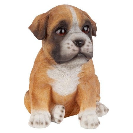 Design Toscano Boxer Puppy Partner Collectible Dog (Boxer Dog Statues)