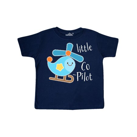 Helicopter Graphic - Little Co-Pilot- cute helicopter Toddler T-Shirt