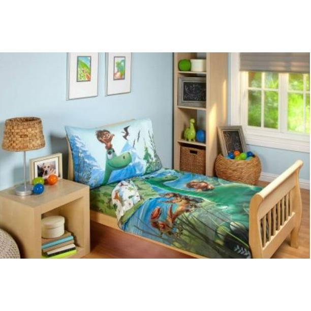 Disney 4 Piece Good Dino Toddler Bedding Set Walmart Com Walmart Com