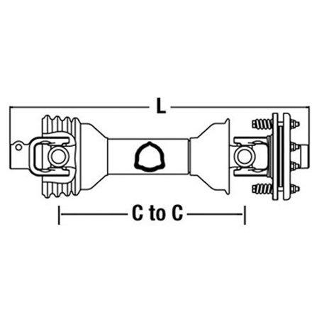 Universal PTO Driveline Rotary Tiller, New, ECC4383S