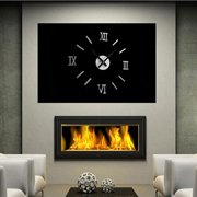 Big Saving/Clearance, JLONG 1Pcs Large DIY Wall 3D Clock Mirror Surface Wall Sticker Home Decor, Silver