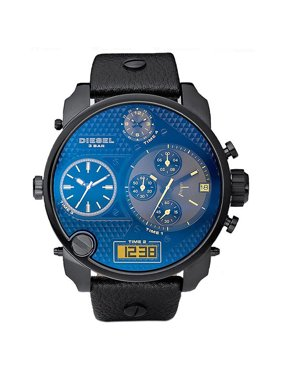 Product Image Diesel Men s Mr. Daddy Black Leather Chronograph Watch DZ7127 fb89f363ac