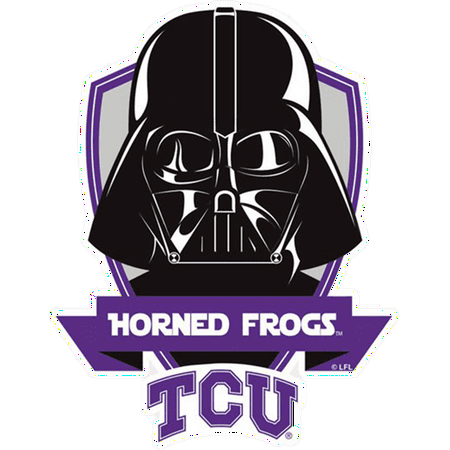 TCU Horned Frogs NCAA Darth Vader Star Wars Logo Perfect Cut Decal (Colored)