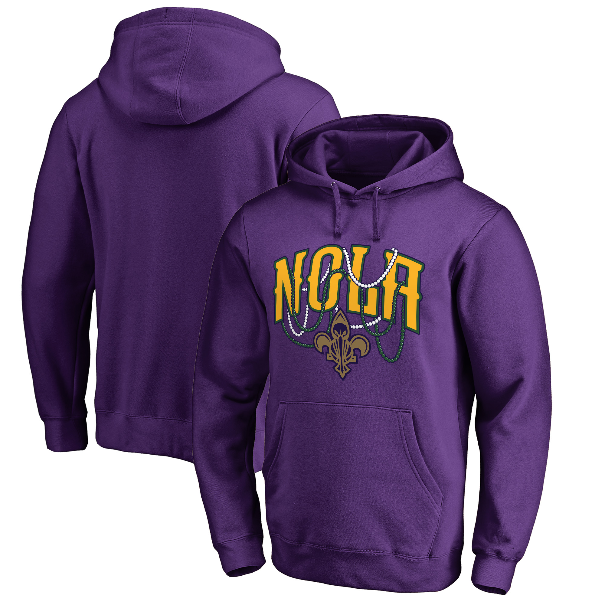 New Orleans Pelicans Fanatics Branded NOLA Beads Hometown Collection Pullover Hoodie - Purple