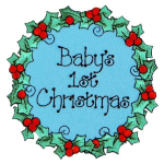 Expo Int'l BaZooples Iron-on Patch Applique Baby's 1st Christmas ()