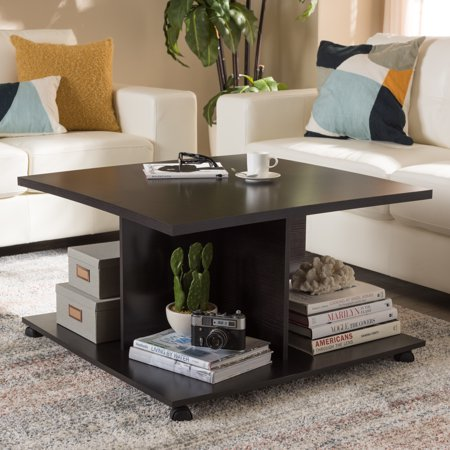 Baxton Studio Cladine Modern and Contemporary Wenge Brown Finished Coffee Table