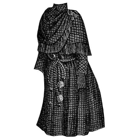 Sewing Pattern: 1888 Brown Cloak for Girl 8-10 Years Pattern](Hooded Cloak Pattern)
