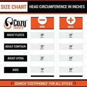 Cozyphones Kids Headband Headphones Volume Limited Childrens Earphones Ultra Thin Speakers Home Travel Sleep Comfortable Soft Fleece Ivory Panda