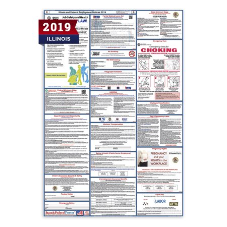 2019 Illinois State and Federal Labor Law Poster (Laminated)