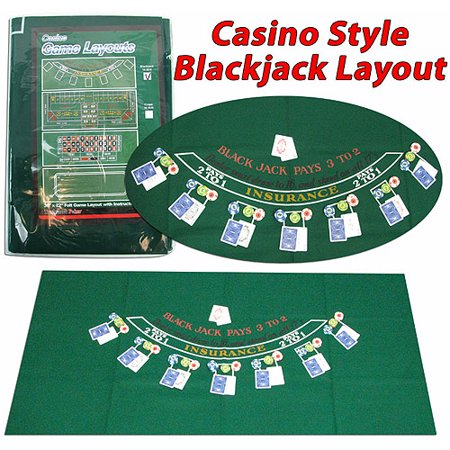 Trademark Poker Blackjack Layout - Blackjack Table