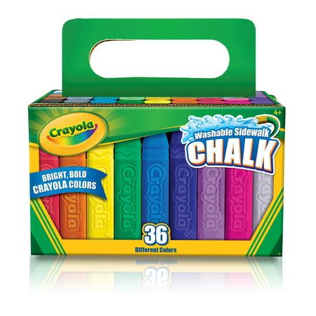 Crayola Outdoor Washable Sidewalk Chalk, 36 Count , Walmart Exclusive