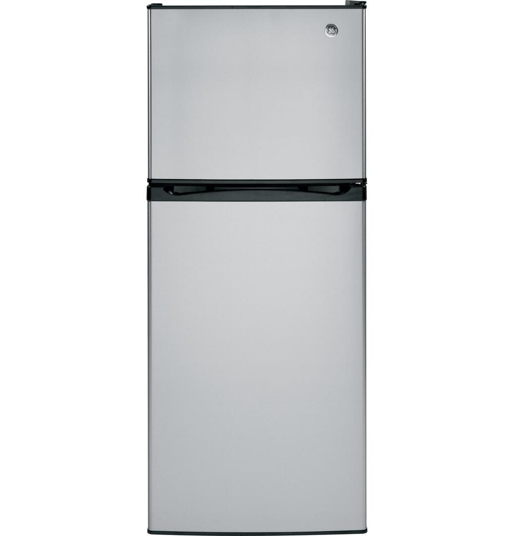 GPE12FSKSB 24 Energy Star Qualified Top-Freezer Refrigerator 11.55 Cu. Ft. Capacity Upfront electronic