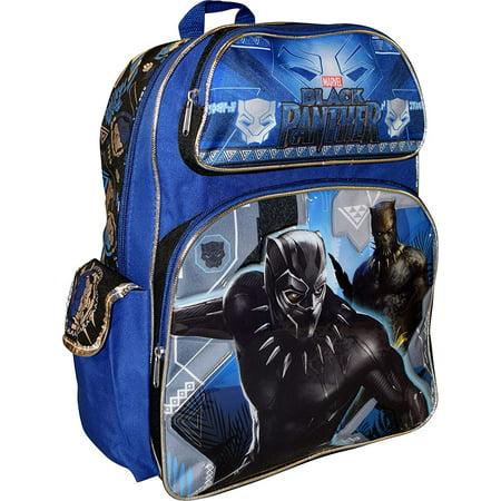 "Marvel Black Panther Deluxe Embossed 16"" School Bag Backpack"